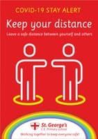 Stay Alert - Keep Your Distance Sign